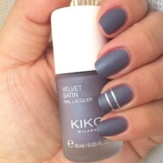 Perfectly smooth, silky #nails with Velvet Satin Nail Lacquer. Jazz them up by adding a touch of #NailArt like @vijekamelea!