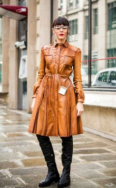 Evangelie Smyrniotaki from Best Street Style From Paris Fashion Week Fall 2017  Tip: How to look chic while keeping covered up from head-to-toe.