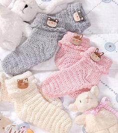 Háčkované dětské  ponožky+návod