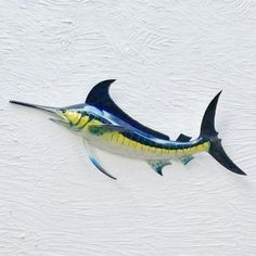 Our Resin Blue Marlin Wall Decor is a fabulously crafted wall accent for any Indoor or Covered Outdoor Wall. Lightweight and easy to Hang. Patio Wall Decor, Tiki Decor, Fish Wall Decor, Fish Wall Art, Beach Wall Decor, Room Decor, Tropical House Design, Tropical Wall Decor, Tropical Colors