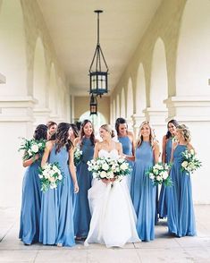 Blue Wedding Flowers robins egg blue bridesmaid dresses and white bouquets - A romantic rainy-day wedding at El Chorro in Scottsdale, Arizona Steel Blue Bridesmaid Dresses, Blue Bridesmaids, Wedding Bridesmaid Dresses, Wedding Bouquets, Bridesmaid Dress Colors, Cornflower Blue Bridesmaid Dresses, Classic Bridesmaids Dresses, Bridal Dresses, Perfect Wedding