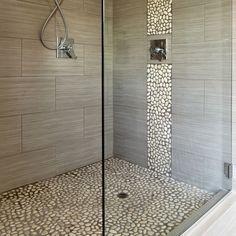 frei begehbare Dusche ohne Duschtür