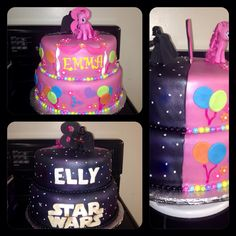 Darth Vader/Star Wars and Pinkie Pie/My Little Pony Twins Cake - Dairy Free