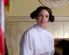 """""""...and I don't really think it's fair for me to be on a jury because I'm a hologram."""" - Tina as Liz as Leia"""