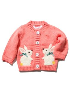 M&Co. Baby Bunny button down boucle cardigan