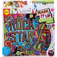 ALEX Toys Artist Studio Rock Star Mark It Up Canvas Wall Art