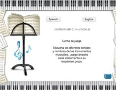 Picture Instrument Sounds, Spanish English, Musical Instruments, Musicals, Ebooks, Place Card Holders, Music Instruments, Names, Instruments