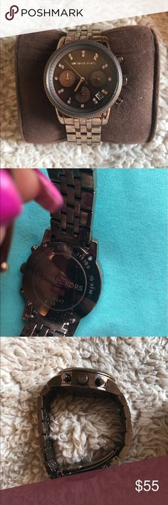 MK Watch 😍 Mk watch model 5547 ritz brown very beautiful watch 😍With box no extra links to this one sorry.                     I am not sure if I have mis placed them or throw them away by accident ☹️. Michael Kors Accessories Watches