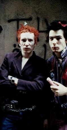 Johnny Rotten and Sid Vicious #sexpistols