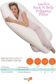 Specifications * Provides equal support for back and belly at the same time * No repositioning pillows during the night, simply turn from side to side * Can help provide support for neutral positioning * Sham-style removable cover * Cover: 65% Polyester 35% Cotton * Also available in OrganicSmart * Organic Cover: 100% Organic Cotton * Pillow: 100% Polyester Fiber * For Adult Use Only Pregnancy Pillow, Good Posture, Cotton Pillow, The Chic, Organic Cotton, How To Find Out, Fiber, Neutral, Maternity