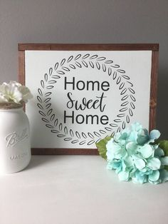 great sign for the home. Home sweet home wood sign