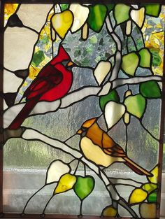 custom spectrum stained glass artwork, located in Dassel Minnesota since Stained Glass Cardinal, Stained Glass Rose, Stained Glass Studio, Tiffany Stained Glass, Stained Glass Designs, Stained Glass Panels, Stained Glass Projects, Stained Glass Patterns, Vitrail Cardinal