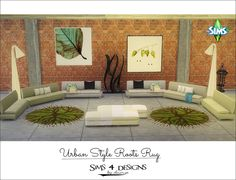 Sims 4 Designs: Urban Style Roots Rug