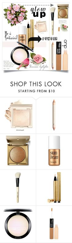 """""""HIGHLIGHTERS:  Glow up for that dewy sun-kissed look"""" by k-hearts-a ❤ liked on Polyvore featuring beauty, Stila, Benefit, Bobbi Brown Cosmetics, Yves Saint Laurent, MAC Cosmetics and Charlotte Russe"""