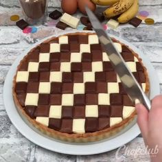 Triple chocolate banana pie by . its so beautiful and ea. Triple chocolate banana pie by . its so beautiful and ea. Cookie Desserts, Just Desserts, Delicious Desserts, Yummy Food, Tasty, Cooking Cookies, Baking Recipes, Cake Recipes, Dessert Recipes