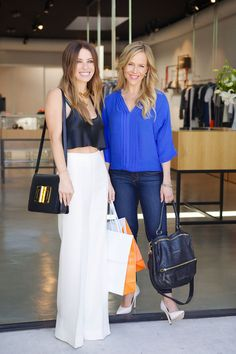 Shopping with stylist Joey Tierney and her client Julie Benz