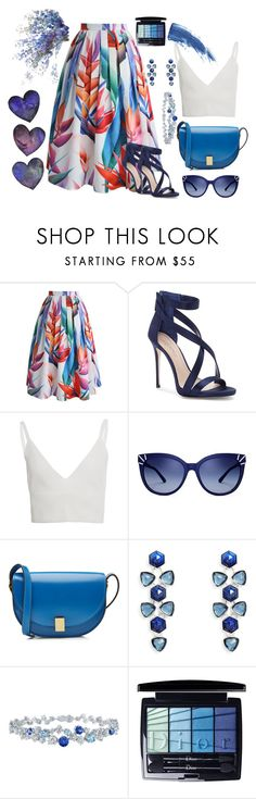 """Untitled #76"" by boskoskameri on Polyvore featuring Chicwish, Imagine by Vince Camuto, Zeynep Arçay, Tory Burch, Victoria Beckham, Vera Bradley, Harry Winston, Christian Dior and Eyeko"