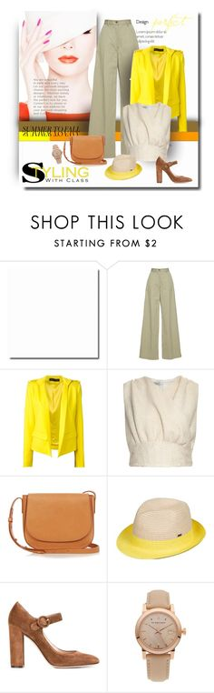 """Delightfully Yellow"" by michelletheaflack ❤ liked on Polyvore featuring Vilshenko, Alexandre Vauthier, Emilia Wickstead, Mansur Gavriel, Paille, Gianvito Rossi, Burberry, summertofall and polyvorecontest"