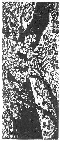 Woodcuts of Naoko Matsubara, born in Japan and living in canada