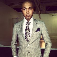 Jamar Rogers in Klein Epstein and Parker made to measure suiting for an American Gentleman shoot.