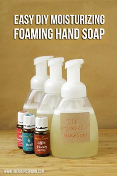 Want to make your own foaming hand soap at home? It's not hard! Try my super easy recipe using a few simple and non-toxic ingredients like liquid castile soap,