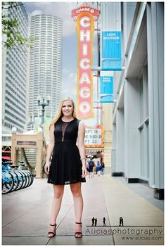Chicago Professional Senior Photographer...Bright Lights Big City –