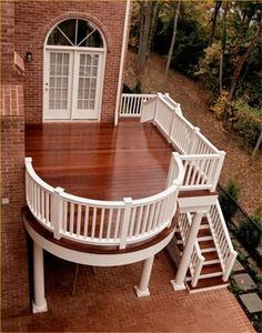 Beautiful deck, would love it off the master bedroom.