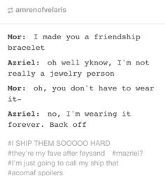 Mazriel for life. Also, Cassian and Nesta, and Lucien and Elain!