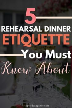 When it comes to your wedding rehearsal dinner, there are a few unspoken rules and etiquette you should not break. Here are the top 5 rehearsal dinner etiquette you must know about! Rehearsal Dinner Toasts, Rehearsal Dinner Speech, Rehearsal Dinner Etiquette, Wedding Rehearsal Outfit, Rehearsal Dinner Decorations, Rehearsal Dinner Outfits, Rehearsal Dinner Invitations, Outdoor Rehearsal Dinners, Ideas For Rehearsal Dinner