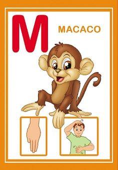 Alfabetos Lindos: Alfabeto em libras colorido! Sign Language Book, Alfabeto Animal, Teacher, Disney Characters, Books, Animals, Google, Language Activities, Abc Centers