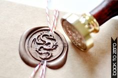 Dragon  Gold Plated Wax Seal Stamp x 1 by BacktoZero