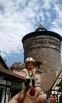 Me and My Duerer at Handwerkerhof, crafts yard and Königstor Tower