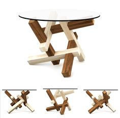 2x3 puzzle coffee table (Special Edition collection) The collection is inspired by the common approach of making the different types of elements using different types of wood often used by burr puzzle makers. This stylistics emphasizes the tectonics of the structure, unveiling a little bit of the hidden assembly principle. This sensation is even stronger when using very contrast types of wood textures, from almost white to almost black, together with more colorful types.