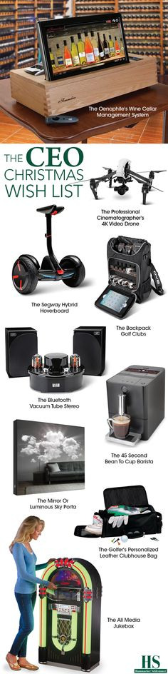 Check out the CEO Christmas wish list from Hammacher Schlemmer.