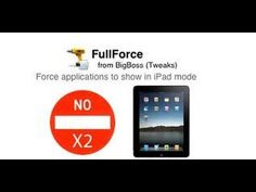 Best Cydia tweak FullForce For iPad Make iPhone Apps Fit The iPad Screen - YouTube
