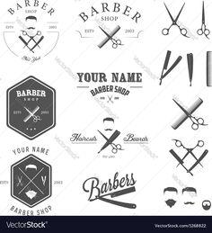 Vector image of Set of vintage barber shop design elements Vector Image, includes man, retro, hair, design & old. Illustrator (.ai), EPS, PDF and JPG image formats.
