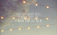 His love endures forever x