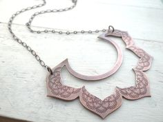 Bold Lotus Bib Necklace by Lost Sparrow Jewelry