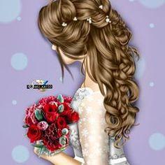 Beautiful Girl Drawing, Cute Girl Drawing, Beautiful Drawings, Cartoon Girl Images, Cute Cartoon Girl, Lovely Girl Image, Girls Image, Sarra Art, Girly M