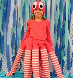 DIY no sew halloween octopus costume / Varrás nélküli polip jelmez / Mindy
