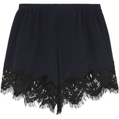 Shop for Lace-trimmed silk crepe de chine shorts by Chloé at ShopStyle. Lace Trim Shorts, Silk Shorts, Polyvore Outfits, Weekend Style, Short Outfits, Teen Outfits, Summer Outfits, Scalloped Lace, Silk Crepe