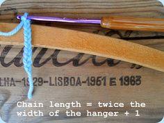 A Simple Crochet Coat hanger diy tutorial. Hanger Hooks, Coat Hanger, Clothes Hanger, Crochet Coat, Diy Crochet, Simple Crochet, Modern Rustic Homes, Rustic Home Interiors, Last Stitch