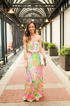 @lillypulitzer printed maxi dress