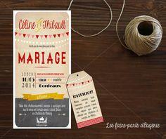 Faire-part mariage thème « Bistrot -ardoise »   Les Faire-parts d'Eugénie