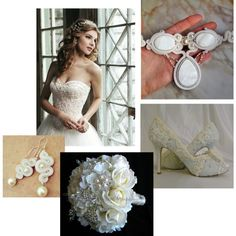 A fashion look from March 2014 featuring pearl jewelry. Browse and shop related looks. Soutache Jewelry, Pearl Jewelry, One Shoulder Wedding Dress, Fashion Looks, Bridal, Wedding Dresses, Womens Fashion, Lace, Polyvore