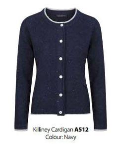 Irelandseye dames vest Killney - Navy