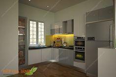 Tủ bếp gỗ Acrylic dạng chữ G – TBG10