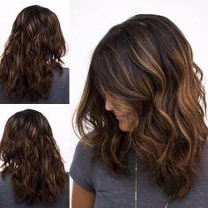 long wavy chocolate hair