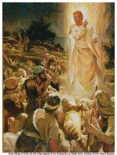 """The """"Archangel"""" Gabriel - telling the shepherds a Savior is born (Luke 2:9) - other Luke 1:11-38, Dan 8:15–26, 9:21–27,"""