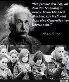 Pinned with my phone - Albert Einstein Zitate - Technology Cool Pictures, Funny Pictures, Funny Quotes, Life Quotes, Facebook Humor, Facebook Sayings, Einstein Quotes, Osho, True Words